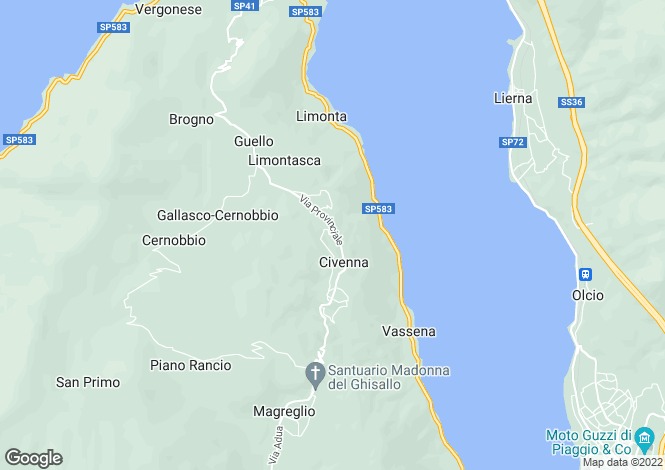 Map for Bellagio, 22030, Italy