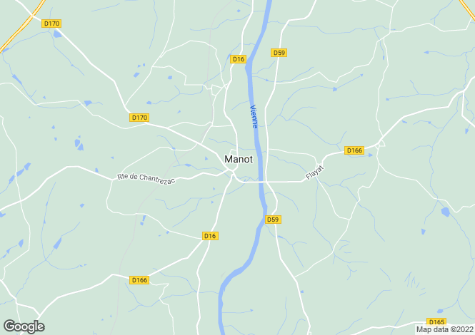 Map for manot, Charente, France