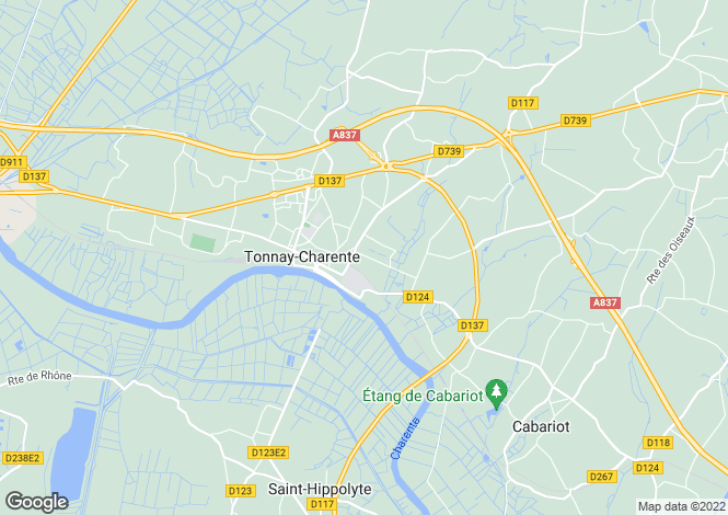 Map for tonnay-charente, Charente-Maritime, France