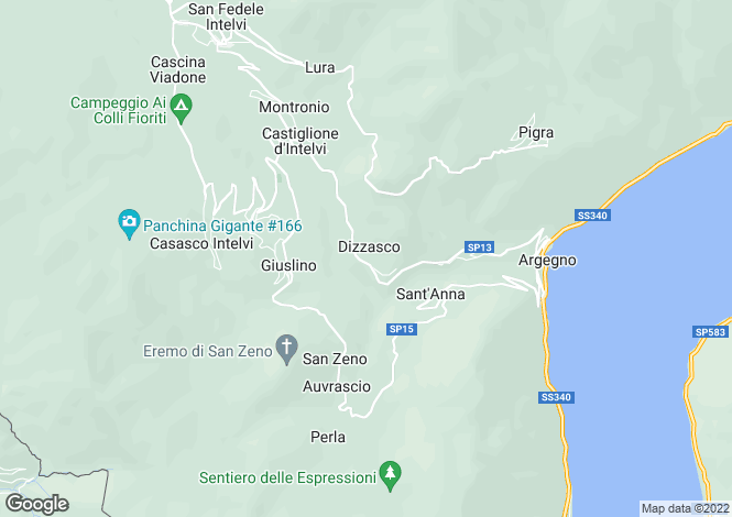 Map for Dizzasco (Argegno), 22010, Italy
