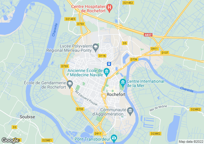 Map for rochefort, Charente-Maritime, France