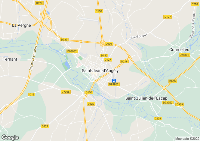 Map for Secteur: Saint-Jean-d'Angely, Charente-Maritime