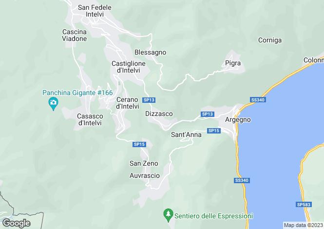 Map for Dizzasco, Como, Lombardy