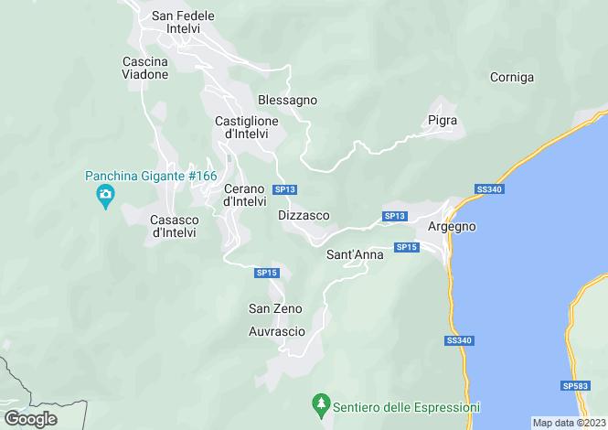 Map for Lombardy, Como, Dizzasco