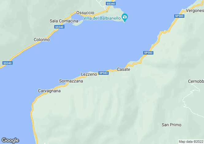 Map for Lombardy, Como, Lezzeno