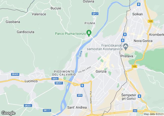 Map for Gorizia, Gorizia, Friuli-Venezia Giulia