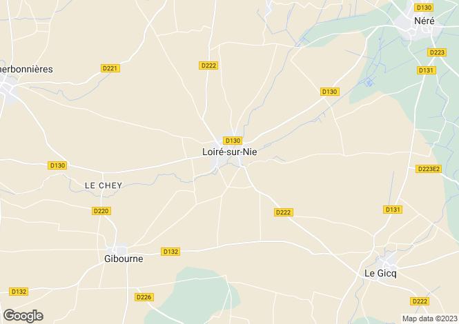 Map for Loiré-sur-Nie, Charente-Maritime, Poitou-Charentes
