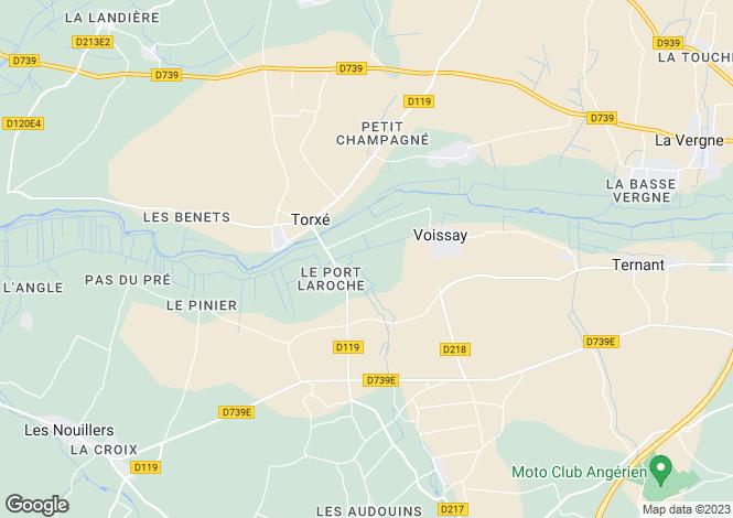 Map for Torxé, Charente-Maritime, Poitou-Charentes