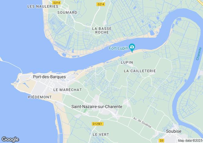 Map for Poitou-Charentes, Charente-Maritime, St-Nazaire-sur-Charente