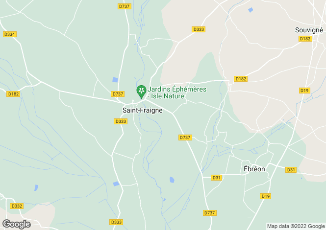 Map for st-fraigne, Charente, France