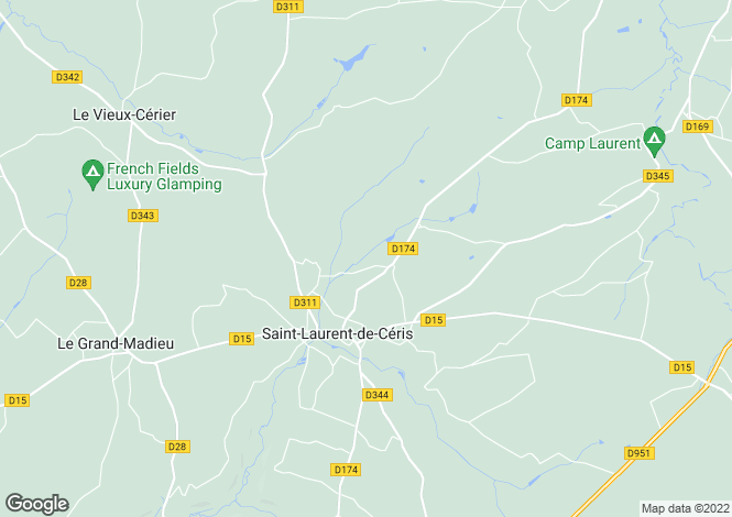Map for st-laurent-de-ceris, Charente, France