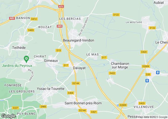 Map for davayat, Puy-de-Dôme, France