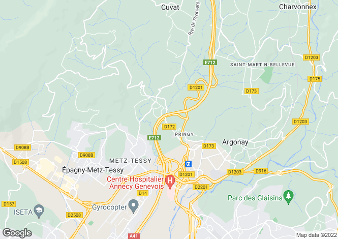 Map for Pringy, 74370, France
