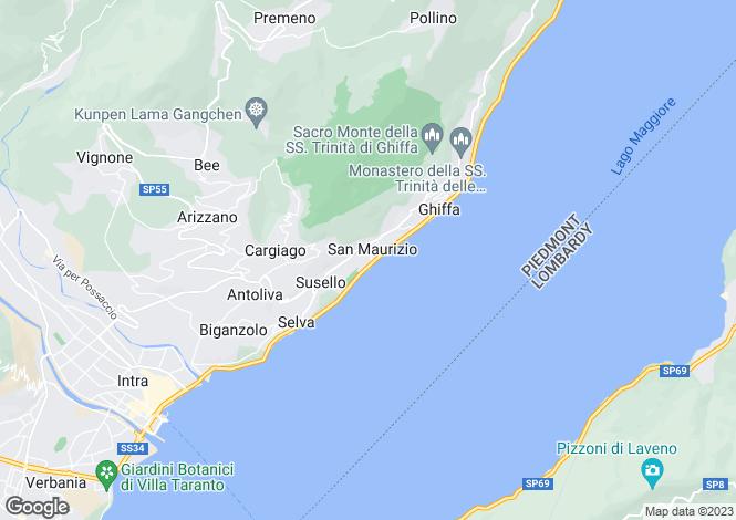 Map for Piedmont, Verbano-Cusio-Ossola, Ghiffa