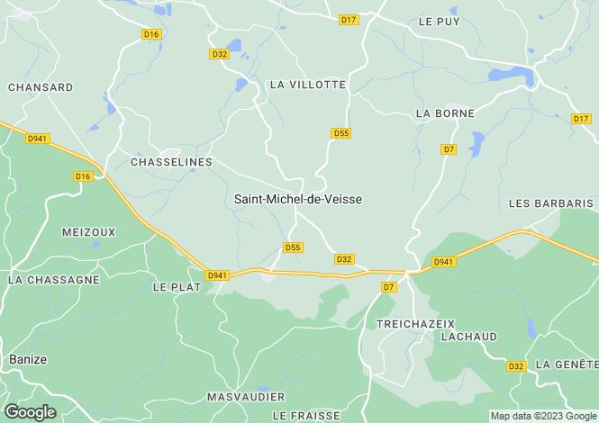 Map for st-michel-de-veisse, Creuse, France
