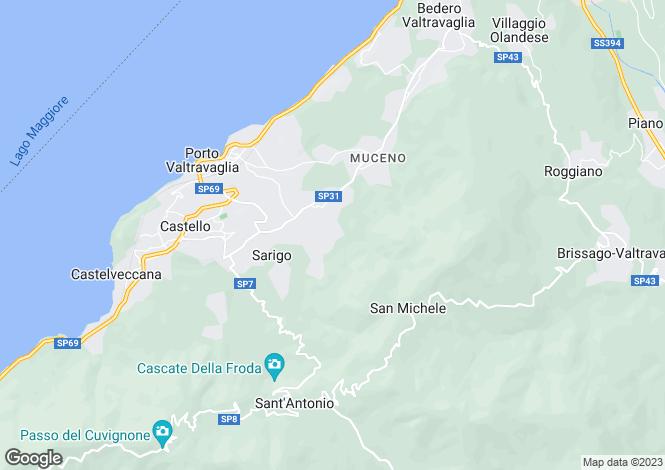 Map for Porto Valtravaglia, Varese, Italy