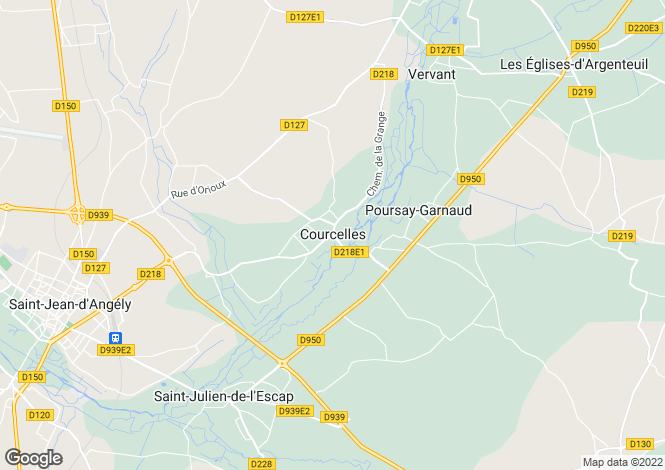 Map for Courcelles, Charente-Maritime, Poitou-Charentes