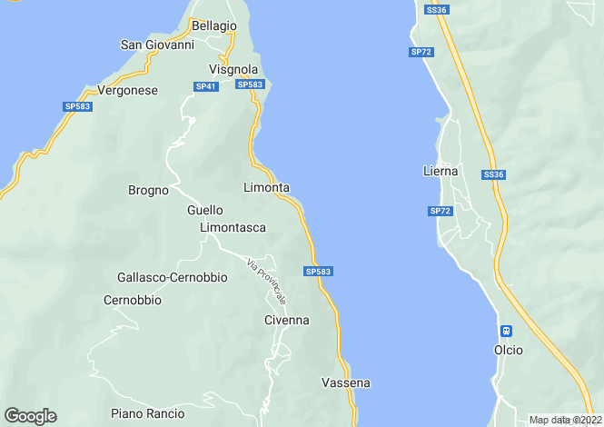 Map for Casa Porticciolo, Limonta, Lake Como, Italy