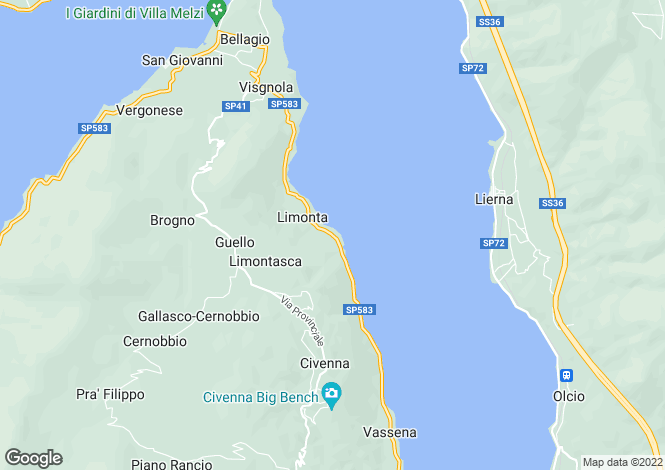 Map for Oliveto Lario, 23865, Italy