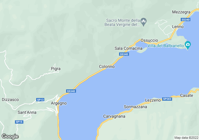 Map for Lombardy, Como, Colonno