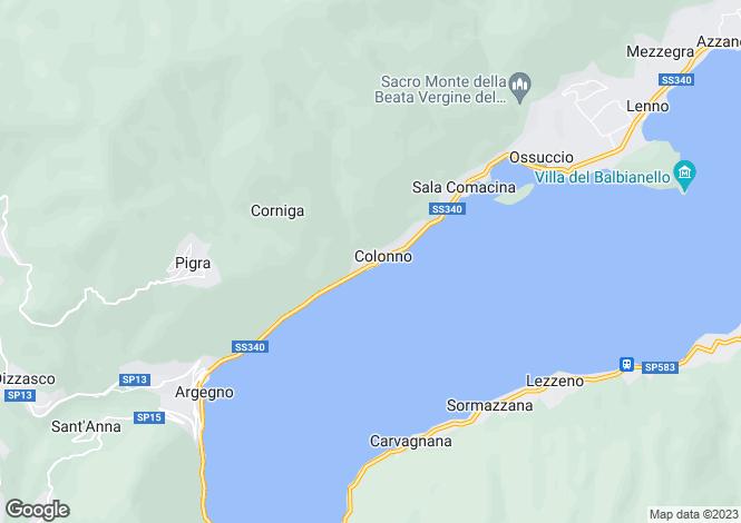 Map for Lombardy, Como, Colonno