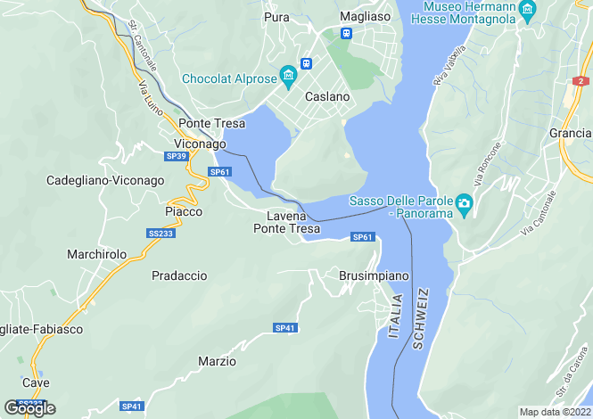 Map for Lombardy, Varese, Lavena Ponte Tresa