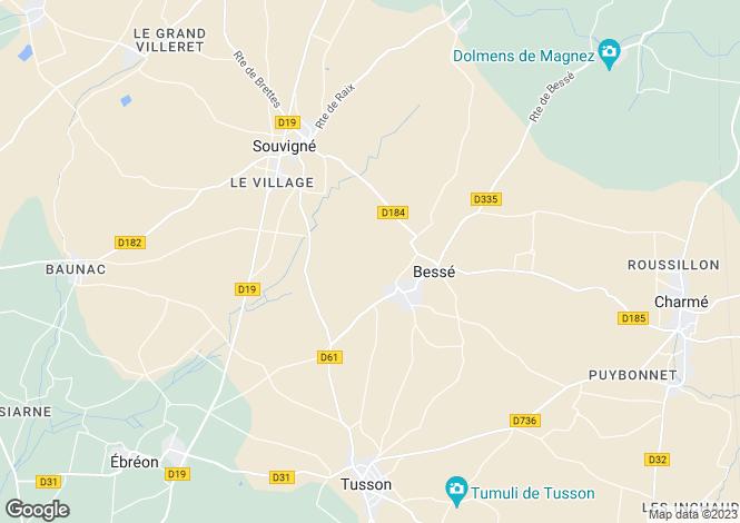 Map for Ruffec, Poitou-Charentes, 16140, France
