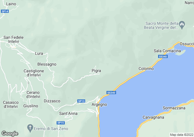 Map for Argegno, Como, Lombardy