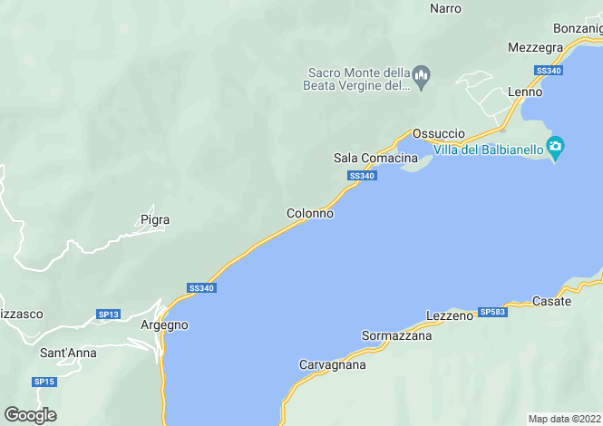 Map for Colonno, Como, Lombardy