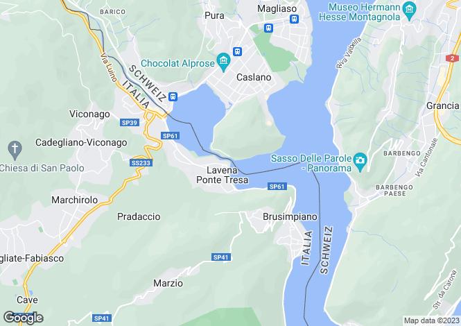 Map for Lombardy, Varese, Lavena Ponte Tresa