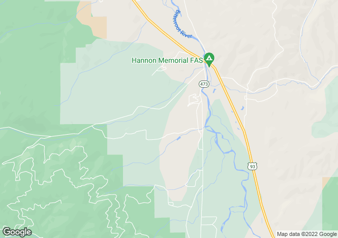 Map for USA - Montana, Ravalli County, Darby