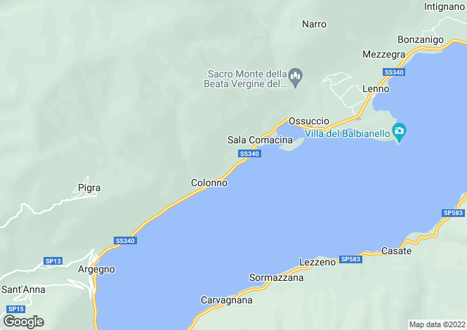 Map for Lombardy, Como, Sala Comacina