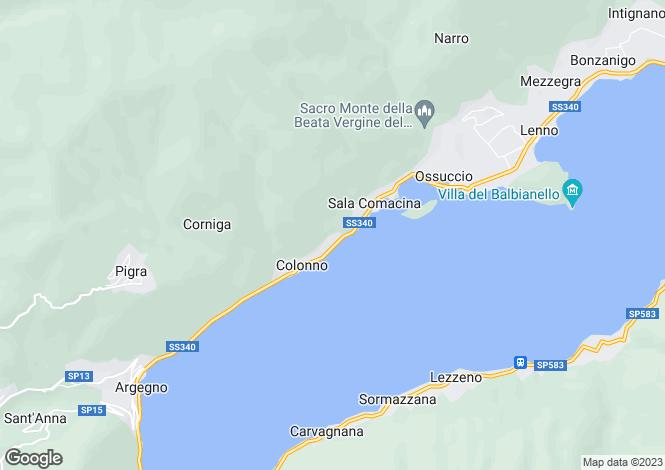 Map for Sala Comacina, Italy