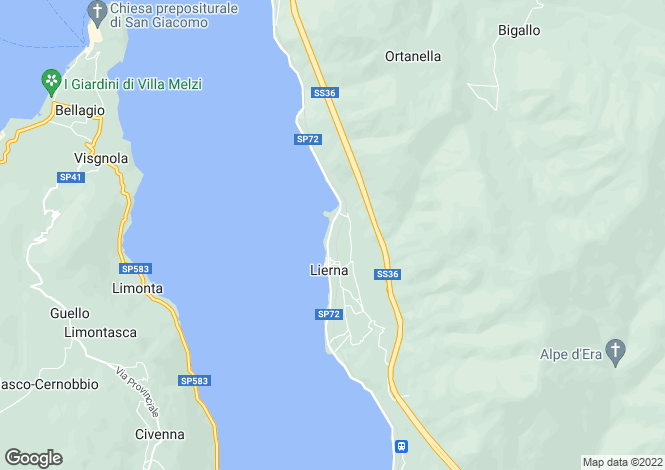 Map for Lierna, Lecco, Italy