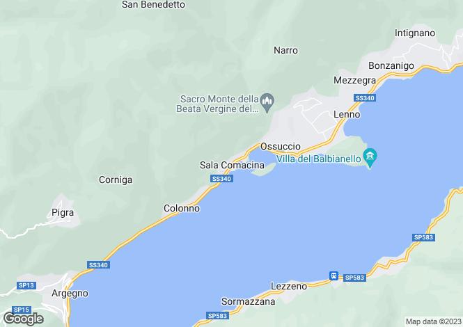 Map for Sala Comacina, Como, Lombardy