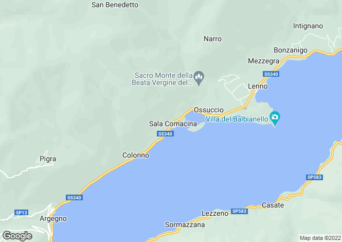 Map for Lombardy, Como, Sala Comacina