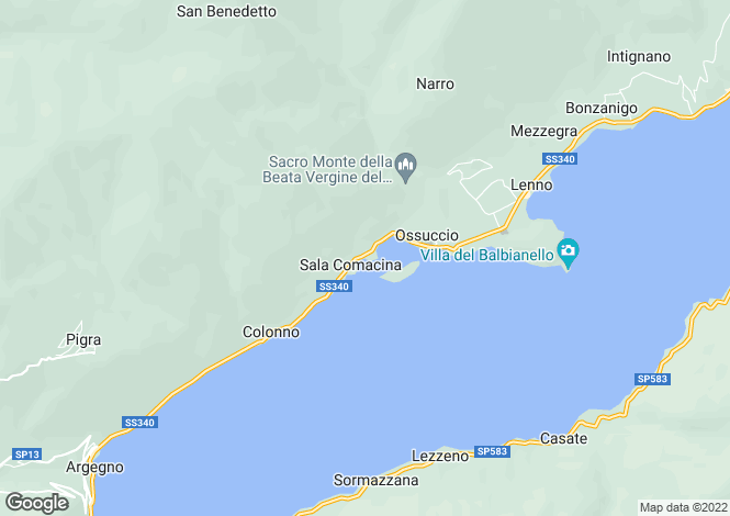 Map for Ossuccio, Como, Lombardy