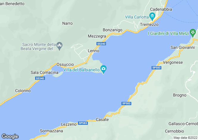 Map for Mezzegra, Lombardy