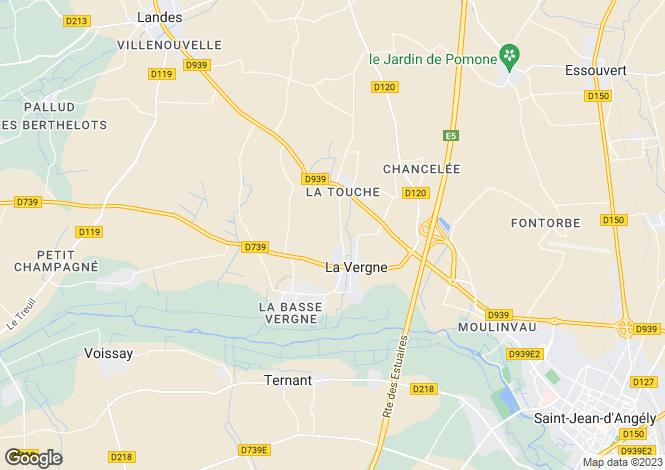 Map for 17400 LA VERGNE, Charente-Maritime, France