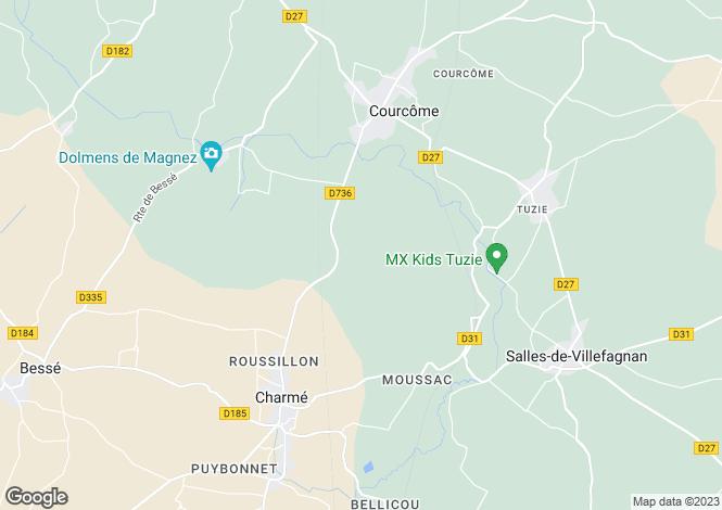 Map for Raix, Poitou-Charentes, 16240, France