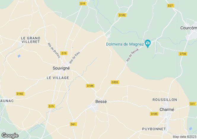Map for Villefagnan, Poitou-Charentes, 16140, France