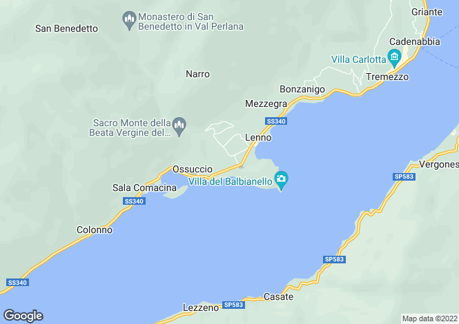 Map for Lombardy, Como, Lenno