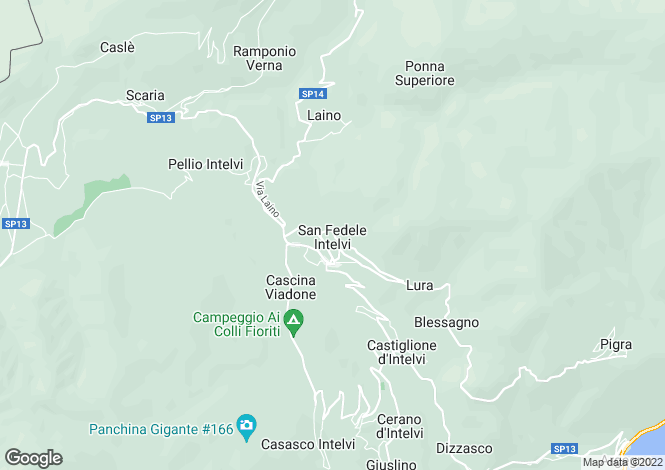 Map for Lombardy, Como, San Fidele Intelvi