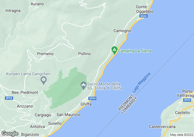 Map for Ghiffa, Verbano-Cusio-Ossola, Piedmont
