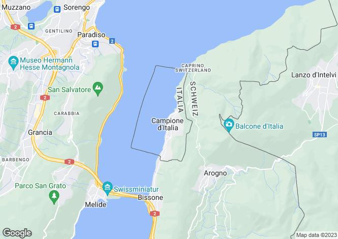 Map for Lombardy, Como, Campione D'italia
