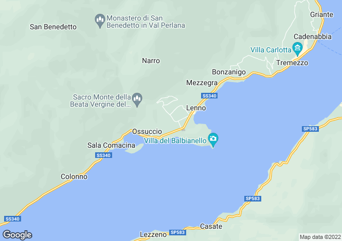 Map for Lenno, Como, Lombardy