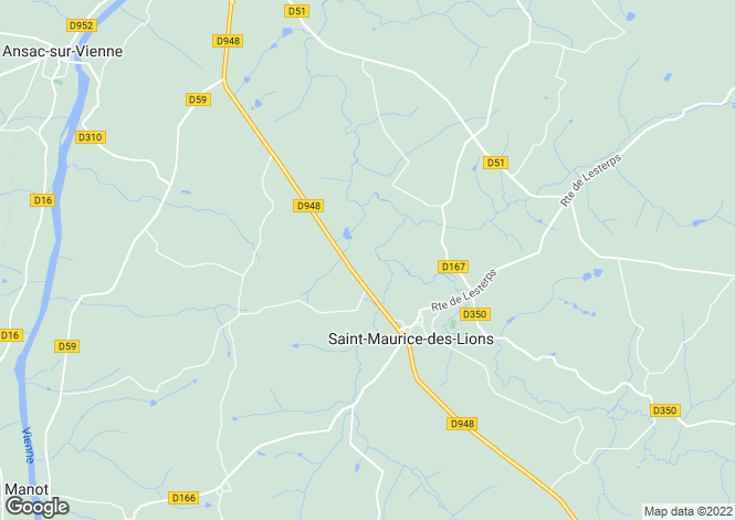 Map for st-maurice-des-lions, Charente, France