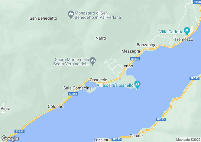 Map for Lombardy, Como, Ossuccio
