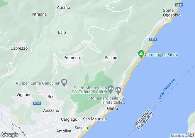 Map for Trontano, Verbano-Cusio-Ossola, Piedmont