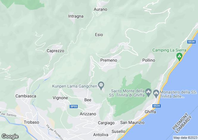 Map for Piedmont, Verbano-Cusio-Ossola, Premeno